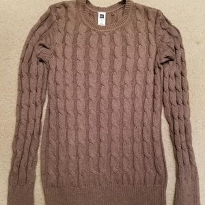 GAP Sweaters - GAP cable knit sweater - taupe